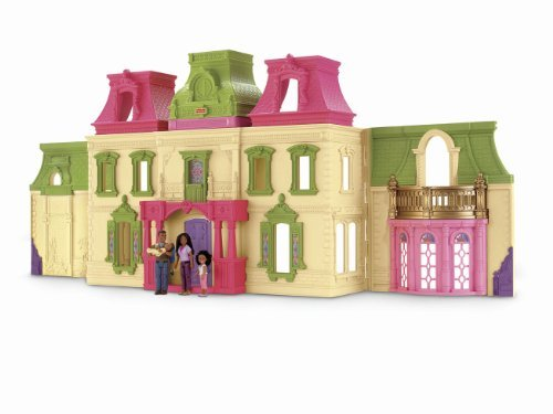 The New Loving Family Dream Dollhouse Takes Dollhouse Play To A New Level - Fisher-Price Loving Family Dream Dollhouse African-American Family