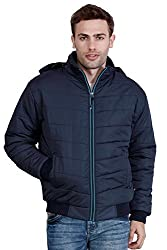 HIVER ZIPPED WOOLLEN SNOW JACKET WITH HOODIE