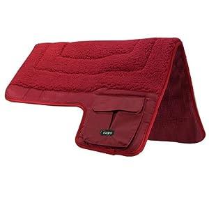 Intrepid International Western Pocket Saddle Pad, Red