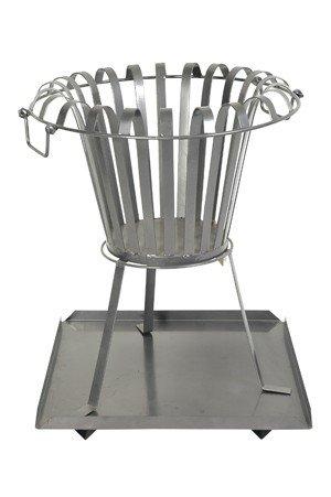Feuerkorb mit Bodenplatte aus Metall Feuerschale rund Höhe 54 cm, Durchmesser 45,5 cm – Holzkorb jetzt kaufen