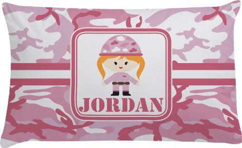 Pink Camo Personalized Pillow Case - Toddler front-792041