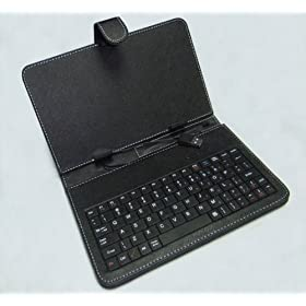 Synthetic Leather Case with Standard USB 2.0 Keyboard and Kick Stand for 8