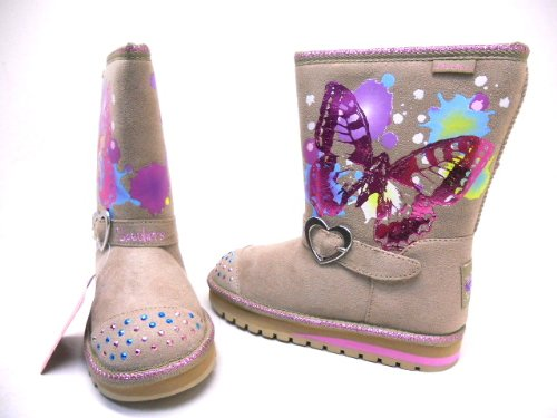 sketchers twinkle toe boots. twinkle toes by sketchers girls keepsakes fashion boot natural pink size 3 new! toe boots l
