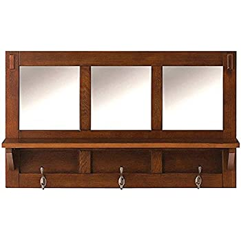 "Artisan Wall Shelf, 18""Hx7.5""Dx30""W, MEDIUM OAK"