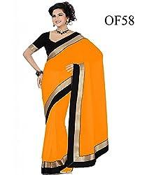 kesar fashion orange colour saree
