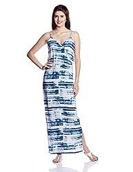 Chemistry Women's Modal A-Line Dress (C16-633WDLDR_Blue Phase Print_Medium)