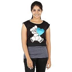 Knit Abc Garments Women's Character Top(KA-WTOP-HTB-10-BL-BL-M_Multicolor_Medium)