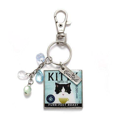 Cats Rule Demdaco Porte-clés en forme de chat