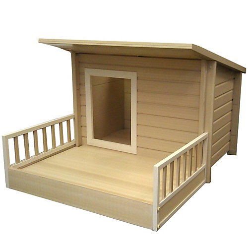 "Ecochoice Santa Fe Chalet Dog House Size: Extra Large (30.3""H X 54.3""W X 42.1""D) front-211413"