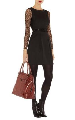 Contrast Sleeve Dress