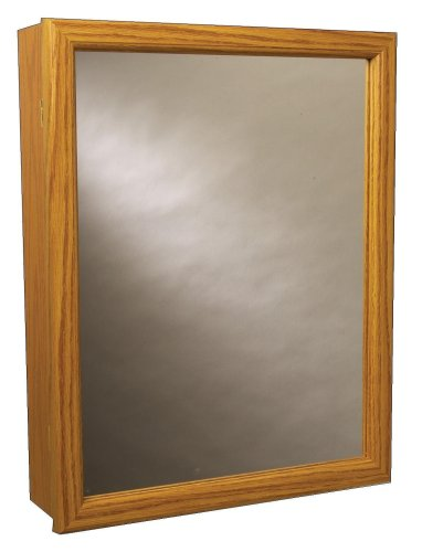 Order zenith products k16 mirrored swing door medicine for Wood frame medicine cabinet
