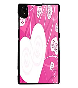 ColourCraft Love Hearts Design Back Case Cover for SONY XPERIA Z1