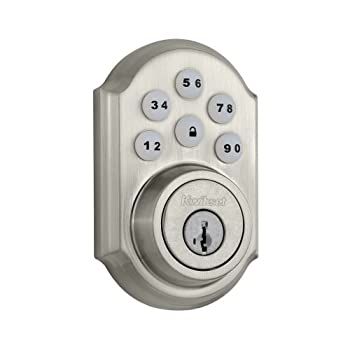 Kwikset's 90915SMTCP SmartCode single-cylinder deadbolt featuring SmartKey technology eliminates any worry over lost or misplaced keys thanks to its keypad entry with personal coding capabilities. Available in satin nickel, polished brass, and Veneti...