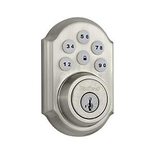 Kwikset 909 SmartCode® Electronic Deadbolt featuring SmartKey® in Satin Nickel