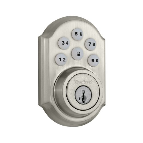 Kwikset featuring SmartKey SmartCode Single Cylinder Electronic Deadbolt, Satin Nickel 909 15 SMT CP