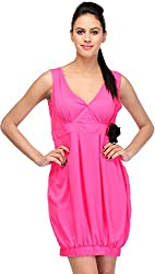 JH Mart Women's Cocktail Dress (JHDRS1028_Pnk_S, Pink, S)