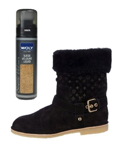 woly black suede velour dye protects against moisture and renews color for designer suede