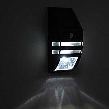 Elinkume Stainless Steel Waterproof Motion Sensor Street Light Outdoor Security Light 1pcs