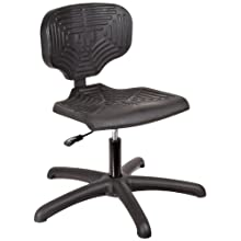 "Milagon Cita BSP1210 Polyurethane Workseat on Star Base Budget Chair with Glides, Low Profile, 16""-21"" Adjustment Height"