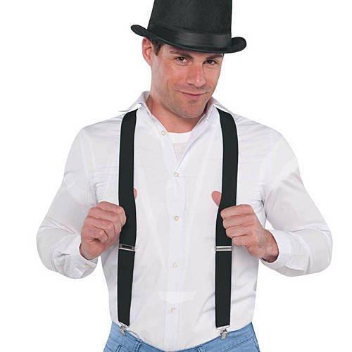 Black Costume Suspenders - 1