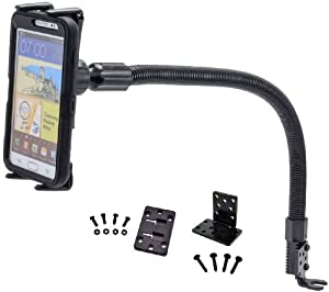 Arkon Smartphone and Midsize Tablet Car Seat Rail Mount for iPhone 6S 6 Plus iPhone 6S 6 5 5S Samsung Galaxy Note 5 4 S7 S6