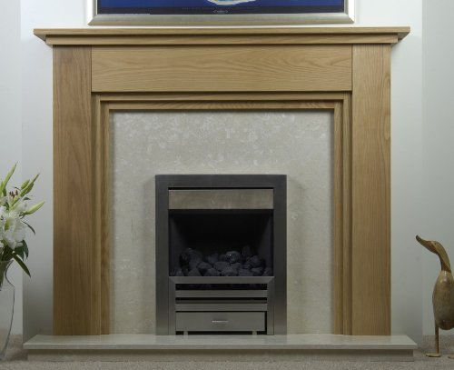 Solid oak fireplace surround. The milverton