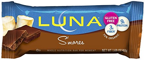 LUNA BAR - Gluten Free Bar - S'mores - (1.69 oz, 15 Count)