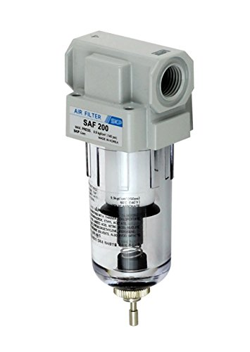 PneumaticPlus SAF200-N02B Miniature Compressed Air Particulate Filter 1/4