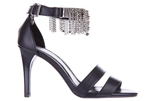 Armani Jeans sandali donna con tacco pelle nero EU 37 C5701 12 12