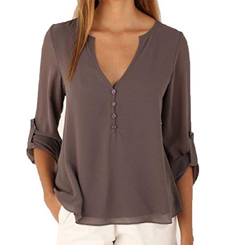 Patgoal - Camicia - Basic - Maniche lunghe  -  donna Grey 44/Etichetta XL