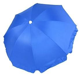 Platinum 6.5 ft Polyester Beach Umbrella with Tilt Blue