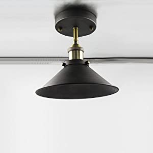 YOBO Lighting Industrial Edison Semi Flush Mount Mini Vintage Ceiling Light