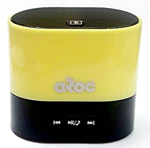 Aroc Electronics BTS-600YELLOW Bluetooth Portable Speaker and Hands Free Speakerphone, Yellow