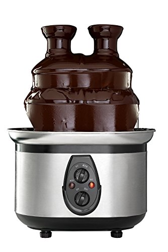 Sagler Double-Tower Chocolate Fountain machine Stainless Steel (Countertop Fountain compare prices)