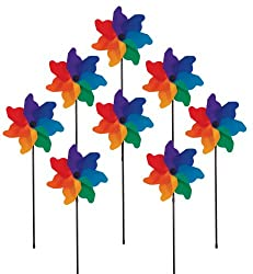 In the Breeze Poly Petal Pinwheel Spinners, 8-Piece