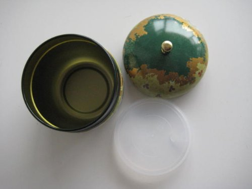 Japanese Tea Canister Suzuko - Flower (Green) 4