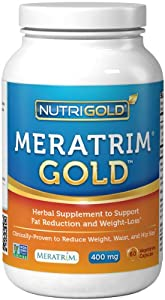 Meratrim Gold - Clinically-Proven Fat Burning and Fast Weight-Loss with Results in 2 to 8 Weeks - 400 mg, 60 Vegetarian Capsules