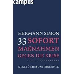 Hermann Simon, 33 Sofortmaßnahmen gegen die Krise