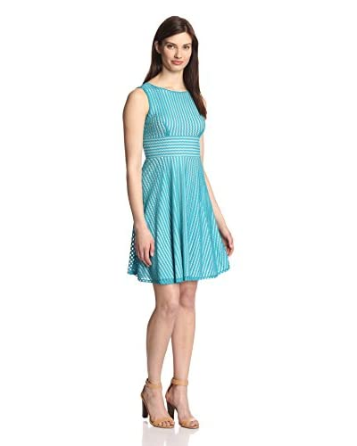Gabby Skye Women's Striped Lace Dress