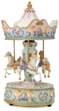 MusicBox Kingdom 14031 Carousel with Angel Music Box Playing