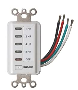 Woods 59013 Decora Style 8-4-2-1 Hour Electronic Timer (White)