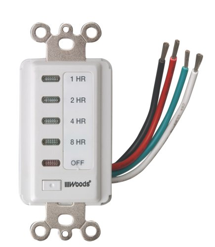 Woods 59013 Decora Style 8-4-2-1 Hour Electronic Timer, White (Decora Countdown Timer compare prices)