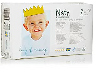 Naty by Nature Babycare Size 2 ECO Nappies - 4 x Packs of 34 (136 Nappies)