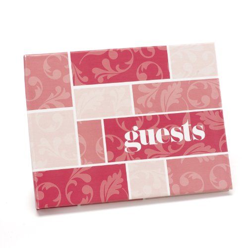 Hortense B. Hewitt Guest Book Wedding Accessories, Pink Flourishes