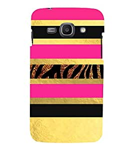 PrintVisa Gold & Pink Animal Pattern 3D Hard Polycarbonate Designer Back Case Cover for Samsung Galaxy Ace 3