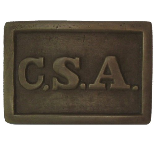 Solid Brass CSA Confederate Army Civil War Belt Buckle