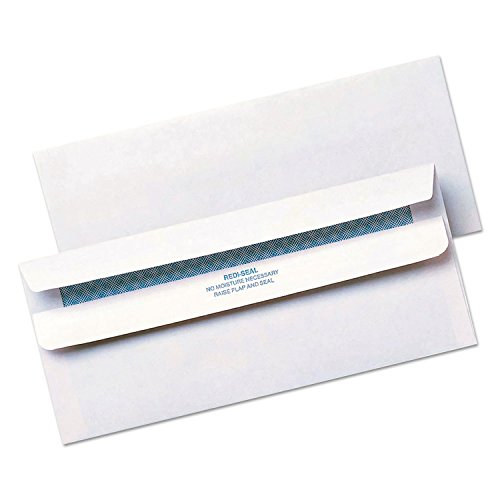 Quality Park Redi-Seal Security Tint Envelopes, #10, White, 500/Box (11218) (Envelope Self Seal 500 compare prices)