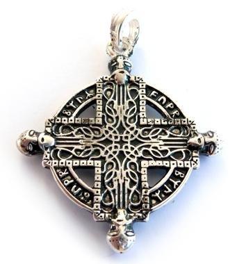 La croce nordmannen ciondolo croce, in argento Sterling 925, ciondolo, catenina, Berserker, vichinghi gioielli