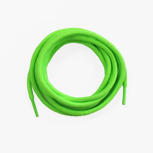 72Inch Round Replacement Shoe Laces Strings Fits All Shoes 1Pair-Neon Green