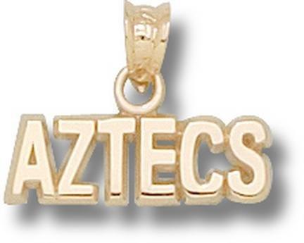 San Diego State Aztecs 10K Gold ''AZTECS'' Pendant